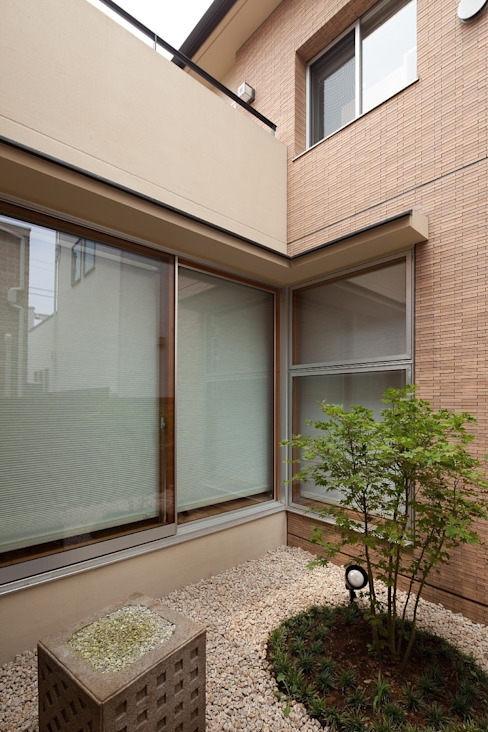 コハウチワカエデのある中庭 モダンな庭 の シーズ・アーキスタディオ建築設計室 モダン