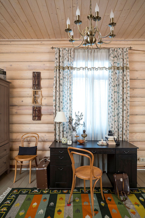 Study/office by Tatiana Ivanova Design, Country