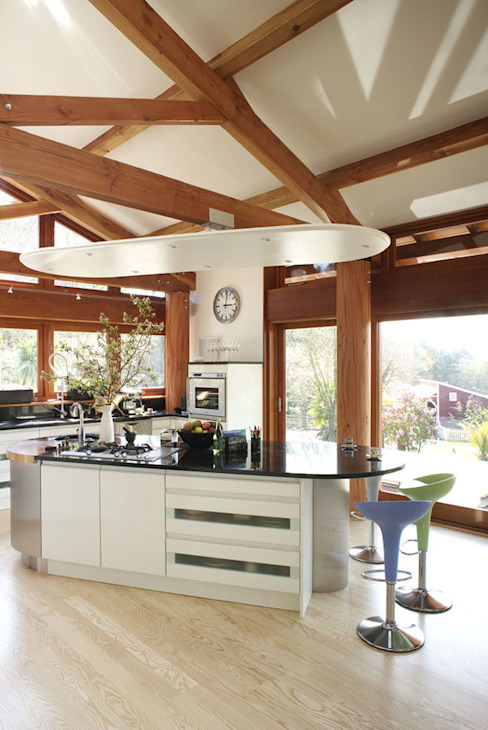 Hillside Farm Kitchen Two Cocinas de estilo moderno de DUA Architecture LLP Moderno