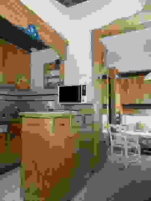 AVANT / ensemble cuisine - salon par ELDI conseil Rustique