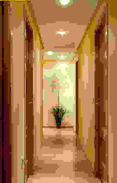 Estarcido Pinturas oliváN Pasillos, vestíbulos y escaleras de estilo rural Sintético Amarillo
