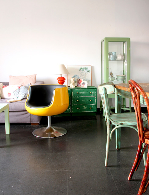 Vivienda de verano Salones de estilo ecléctico de decoraCCion Ecléctico