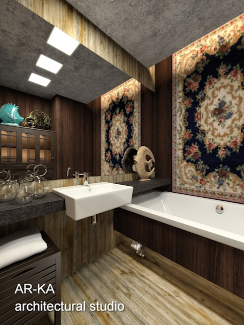 Супер - МИНИ с хорошим вкусом Ванная комната в скандинавском стиле от AR-KA architectural studio Скандинавский