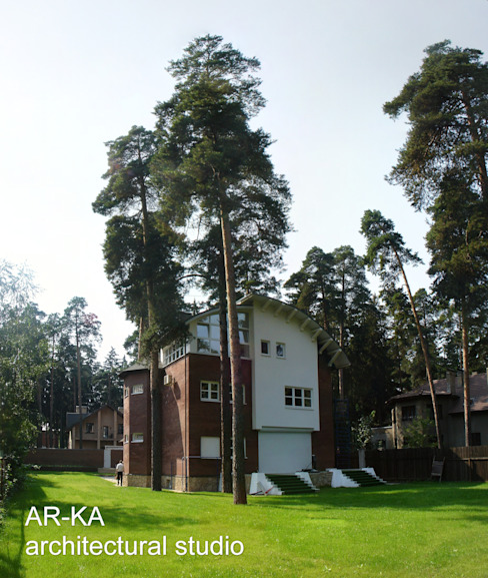 Дом в Малаховке: Дома в . Автор – AR-KA architectural studio, Модерн