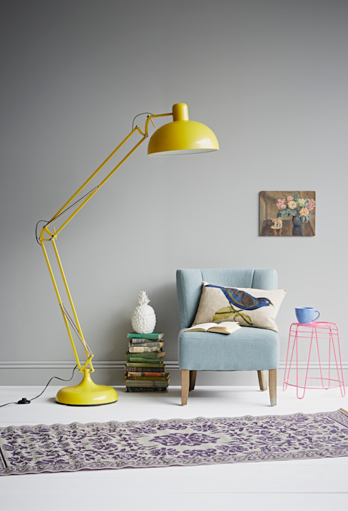 yellow floor lamp Oleh rigby & mac Eklektik
