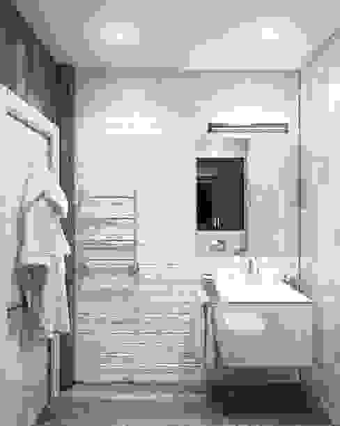 Minimalistyczna łazienka od Eclectic DesignStudio Minimalistyczny
