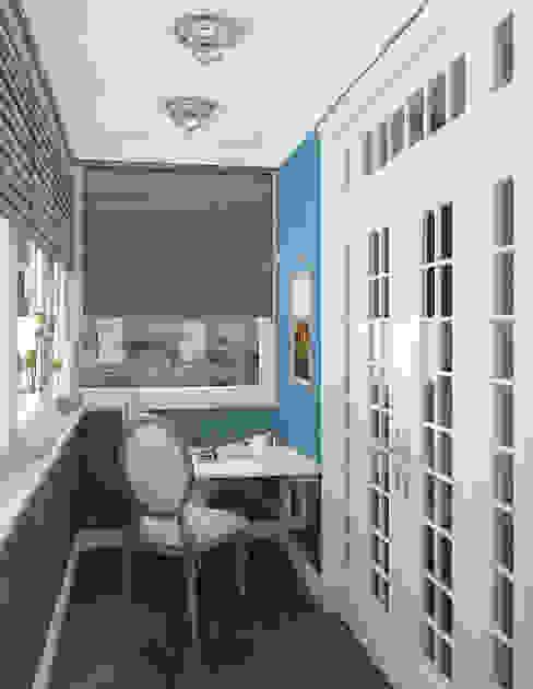 Лоджия Балкон и терраса в классическом стиле от homify Классический
