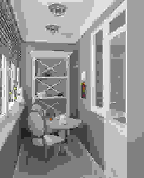 Балкон homify Балкон и терраса в классическом стиле Плитка Бежевый