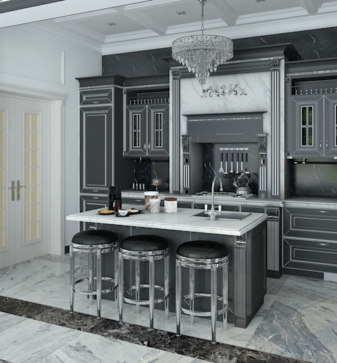 homify Kitchen Grey