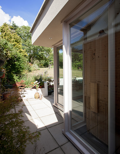 Private House in Epsom, Surrey Francesco Pierazzi Architects モダンスタイルの 温室 無垢材 白色