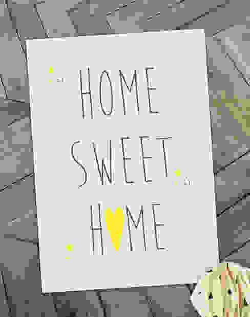 """Affiche """"Home Sweet Home"""", idéal pour une petite déco sympa par Suite Créative Moderne"""