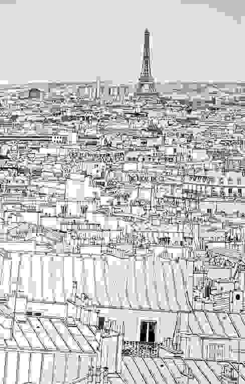 Détail papier peint Paris. Chambre d'enfant moderne par Fella DESPRES, Décoration D'intérieur. Moderne