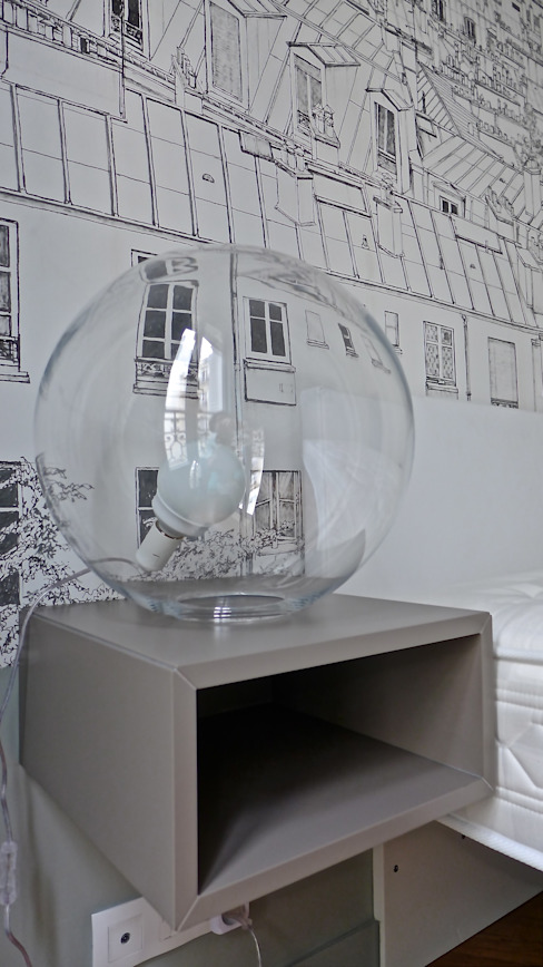 Eclairage, lampe de chevet. Chambre d'enfant moderne par Fella DESPRES, Décoration D'intérieur. Moderne