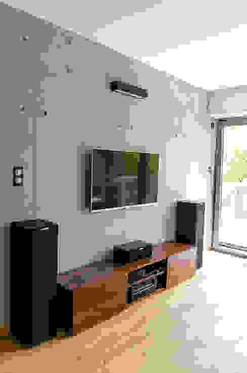 Pracownia A Living room Concrete Grey