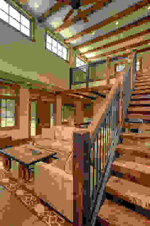 Lucky 4 Ranch Livings de estilo rústico de Uptic Studios Rústico