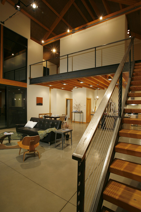 Corridor & hallway by Uptic Studios, Modern