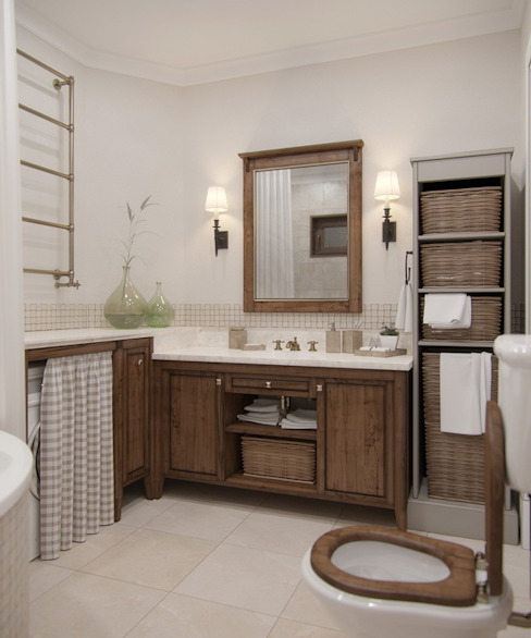 Rustic style bathroom by MJMarchdesign Rustic