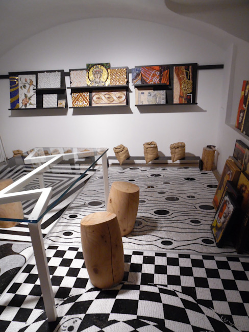 Showroom Friul Mosaic - Milano - via Cerva 6 Spazi commerciali moderni di FRIUL MOSAIC Moderno
