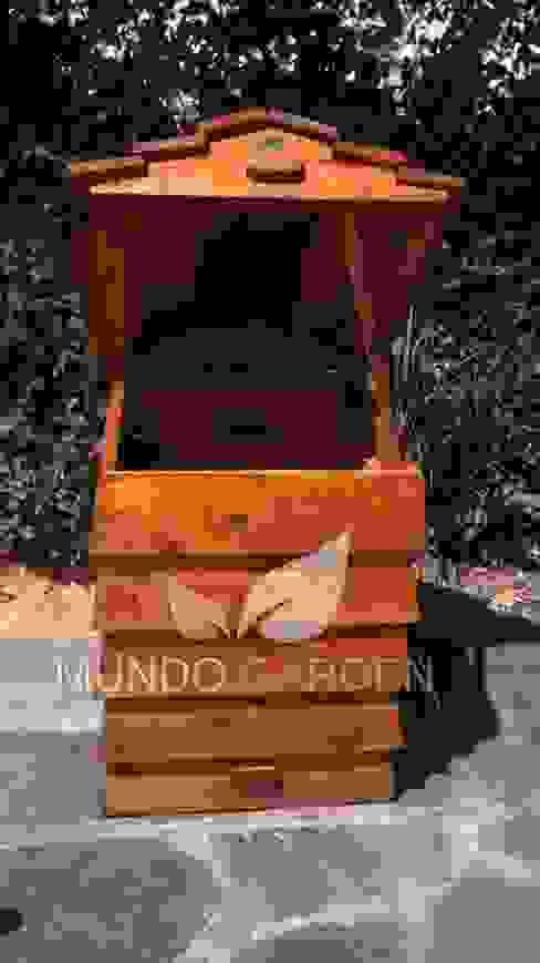 Compost Modular de Mundo Garden Rústico Madera Acabado en madera