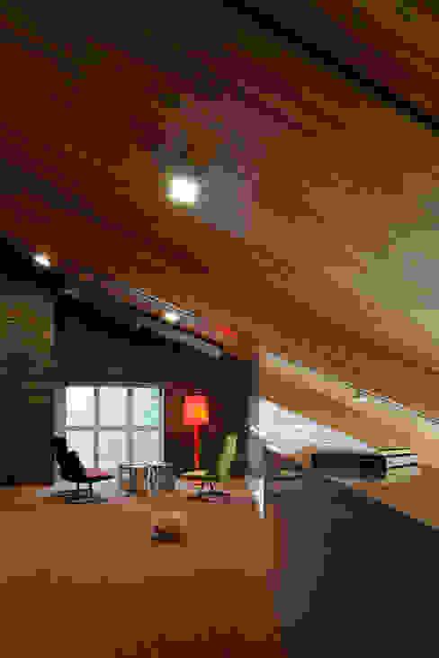 Загородный дом Подмосковье Анахина Медиа комнаты в эклектичном стиле