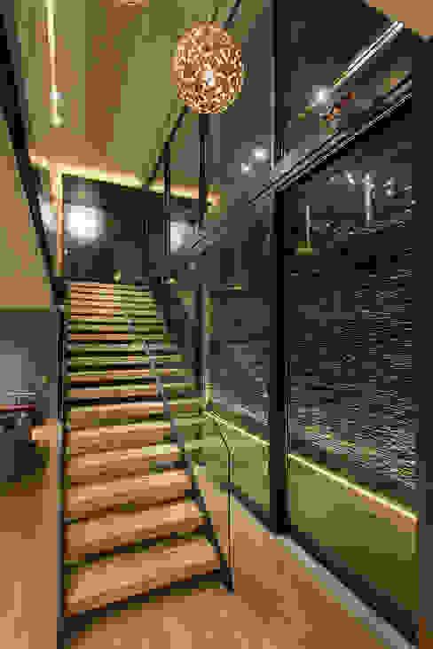 Pasillos, vestíbulos y escaleras modernos de Vieyra Arquitectos Moderno