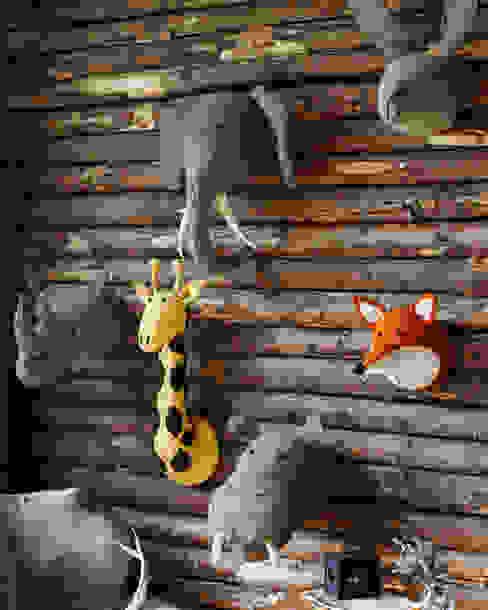 Stuffed felt animal heads -Rhino,Giraffe,Rabbit,Hippo.Rhino and Fox. por brush64 Moderno