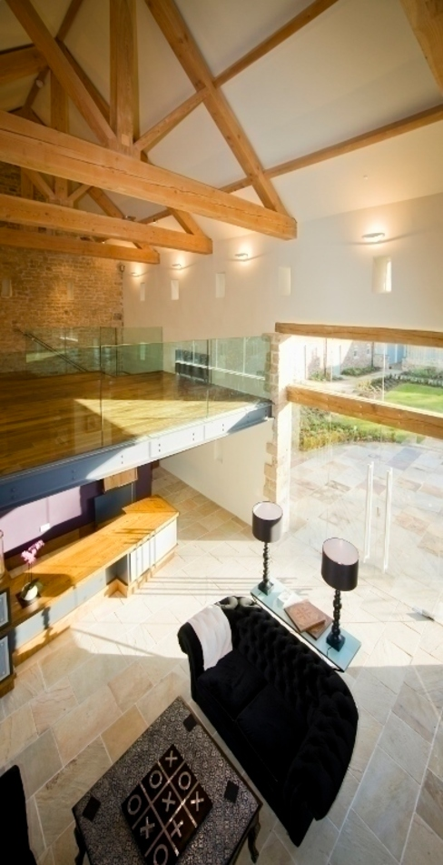 Syningthwaite Priory, Conservation Project Modern living room by Wildblood Macdonald Modern
