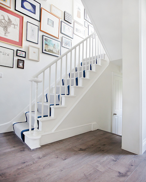 Main staircase Classic style corridor, hallway and stairs by William Gaze Ltd Classic