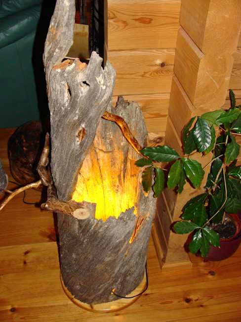 Holzlampe-wunderschöne Polarlampe von Jochens-Elch-O-Thek Skandinavisch Holz Holznachbildung