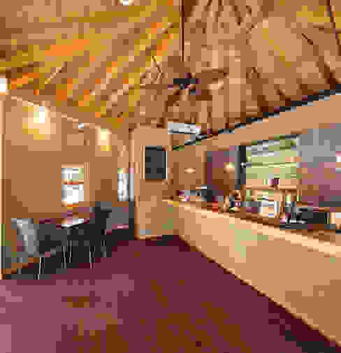 ひなた茶屋~雑木林の小さなカフェ~: 志賀建築設計室が手掛けた壁です。,オリジナル