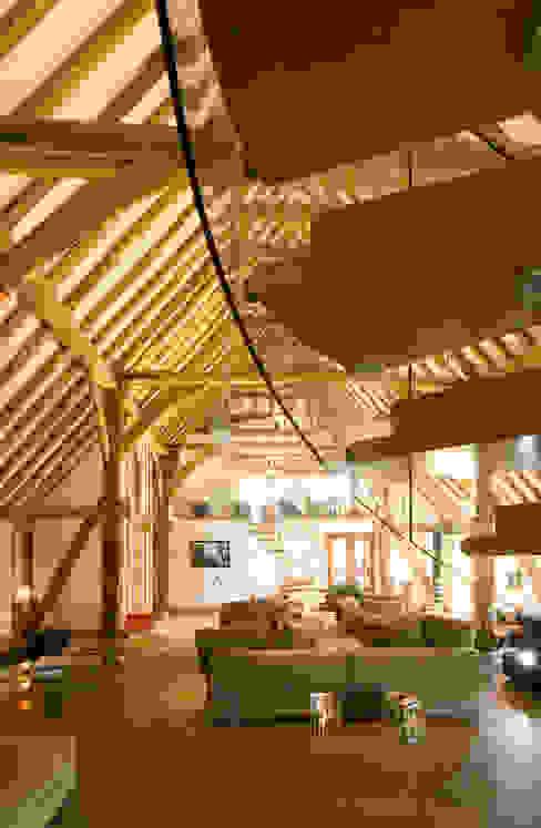 Denne Manor Barn Nowoczesny korytarz, przedpokój i schody od Lee Evans Partnership Nowoczesny