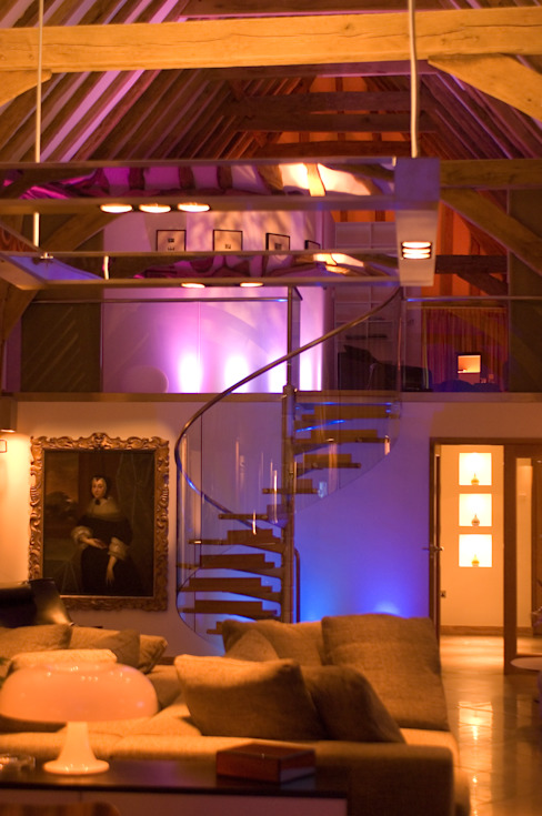 Denne Manor Barn Corredores, halls e escadas modernos por Lee Evans Partnership Moderno