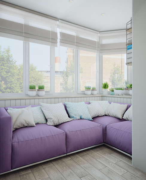 Балкон в скандинавском стиле Балкон в скандинавском стиле от Анна Теклюк Скандинавский