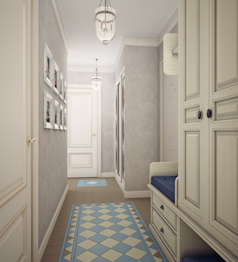 Eclectic style corridor, hallway & stairs by Анна Теклюк Eclectic