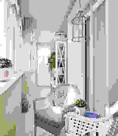 Balcones y terrazas de estilo ecléctico de Анна Теклюк Ecléctico