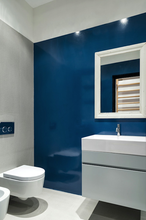 CUBE HOUSE Mohamed Keilani Interiors Bagno minimalista