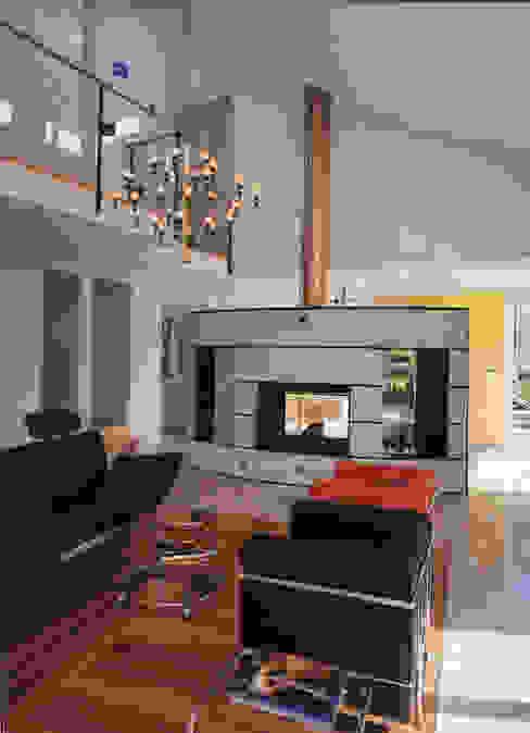 EFH Binder von Hoesslin, Dättlikon Moderne Wohnzimmer von Binder Architektur AG Modern