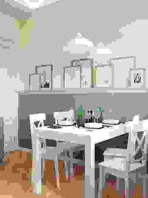 Квартира на ул. Краснобогатырская Кухня в скандинавском стиле от Tina Gurevich Скандинавский