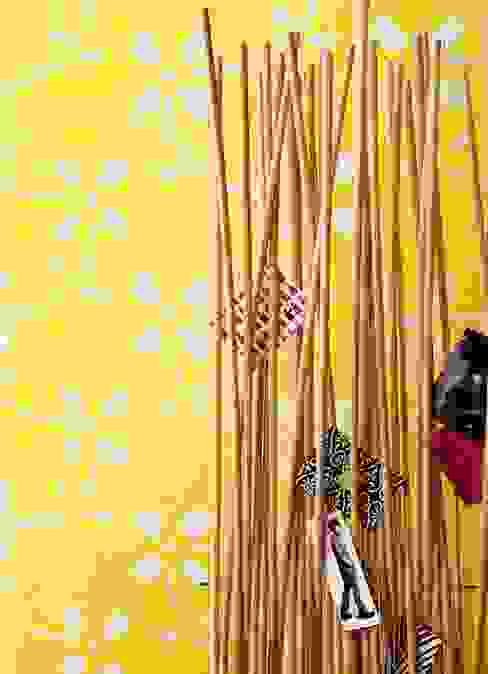 Individuelles Mosaikmuster in der Trendfarbe Gelb Moderne Wände & Böden von trend group Modern