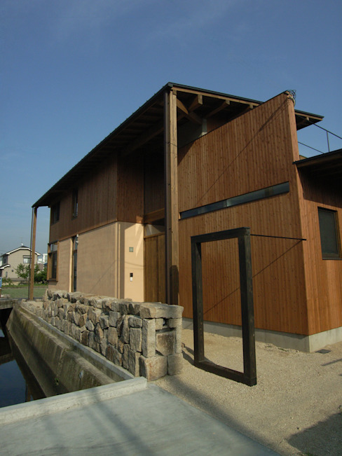 エントランス ラスティックな 家 の Interstudio Architects & Associates Japan ラスティック