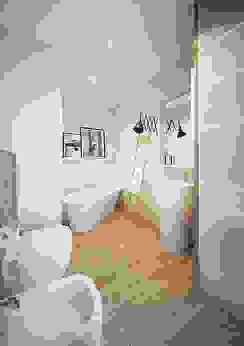 Projekt mieszkania we Wrocławiu Nowoczesna łazienka od COI Pracownia Architektury Wnętrz Nowoczesny