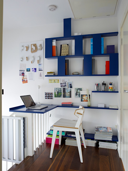 Office Modern Study Room and Home Office by Collective Works Modern