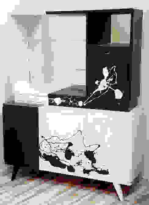 Kredens Pollock, lata 60.   : styl , w kategorii  zaprojektowany przez Lata 60-te,Nowoczesny