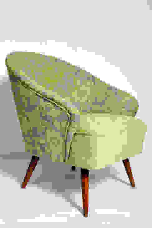 Fotel Zielony w Kwiaty, lata 60. od Lata 60-te Wiejski