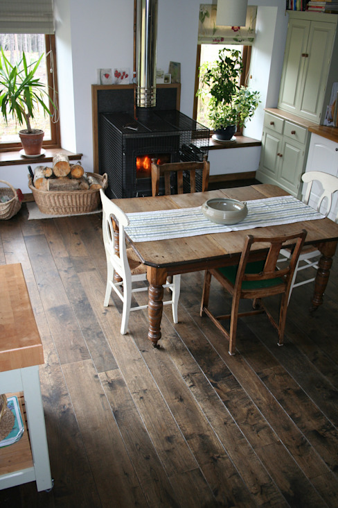 17th Century Double Smoked - Ebony flooring from Russwood Rustic style kitchen by Russwood - Flooring - Cladding - Decking Rustic