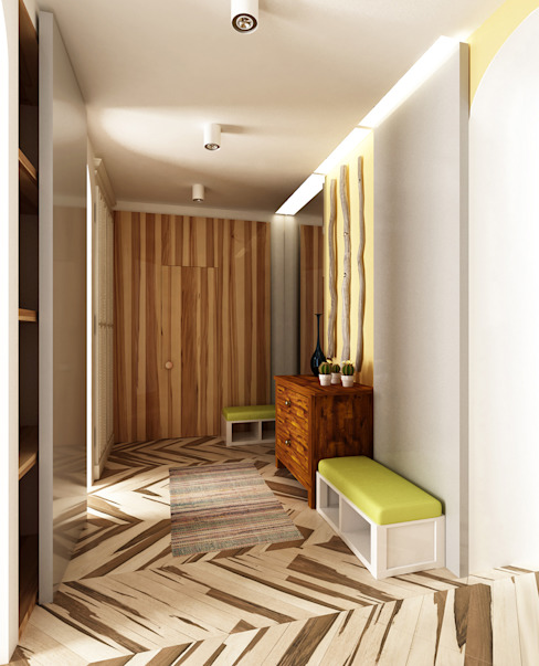 Прихожая Коридор, прихожая и лестница в средиземноморском стиле от WhiteRoom Средиземноморский