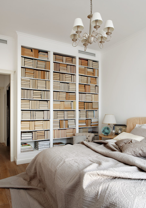 Идеальный фон (ЖК Авеню77) : Спальни в . Автор – White & Black Design Studio,