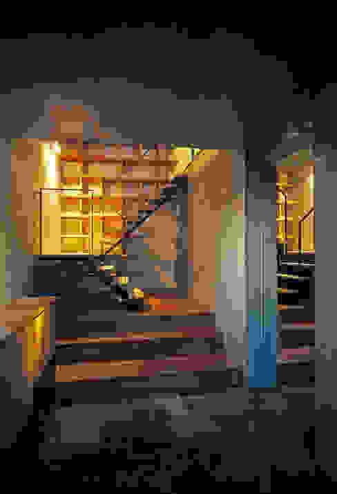 大銀杏の家 モダンスタイルの 玄関&廊下&階段 の HAN環境・建築設計事務所 モダン