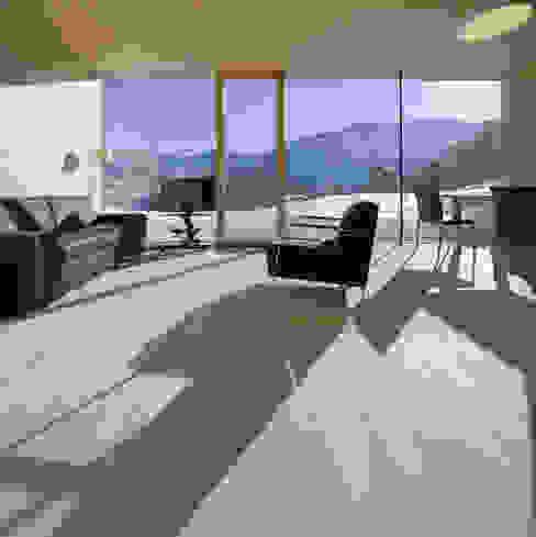Einfamilienhaus Bout Minimalistische Wohnzimmer von Madritsch*Pfurtscheller Minimalistisch