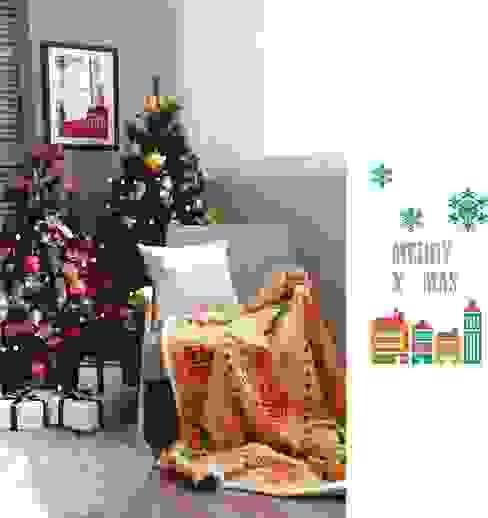 감성 담은 크리스마스 담요: 캠핑플라의 식민지 풍 ,콜로니얼 (Colonial)